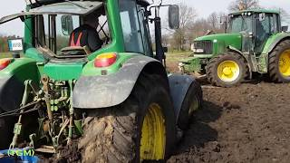 Tractor stuck in mud [HD]