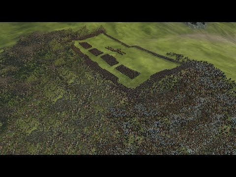 3000 ROMANS vs 12500 BARBARIANS - ROME 2: Total War
