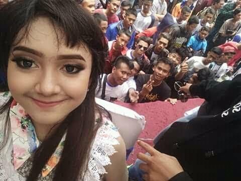 Jihan Audy live Alun-alun Purwodadi bersama Satlantas grobogan