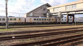 JR東日本 GV-E401/GV-E402形 第3編成+第4編成  入替 新津駅にて