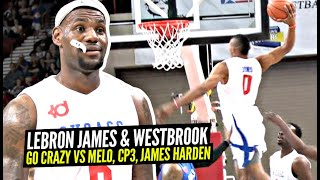 LeBron James & Ruṡsell Westbrook TEAM UP & Go CRAZY vs James Harden & Chris Paul! INSANE Game!