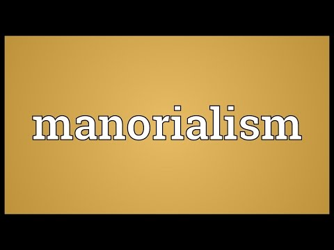 Manorialism Meaning