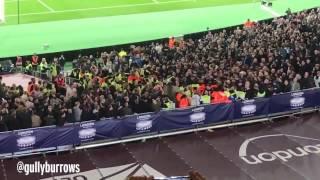 West Ham and Chelsea fans clash at stadium