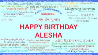 Alesha   Languages Idiomas - Happy Birthday