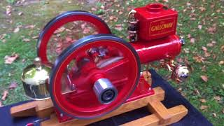 Show quality 1/3rd Scale Galloway hit & miss engine