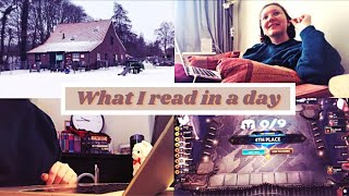 How many hours do I read in an average intensity day? | A Reading Vlog