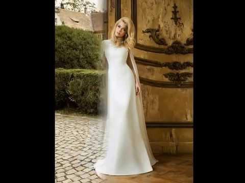 Закрытые свадебные платья  Невесты в закрытых свадебных платьях
