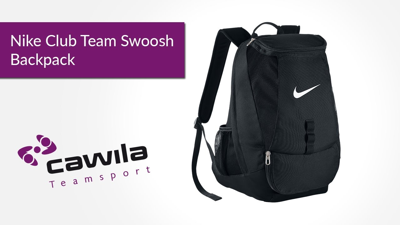 9bc1681baaf66f Nike Club Team Swoosh Backpack - YouTube