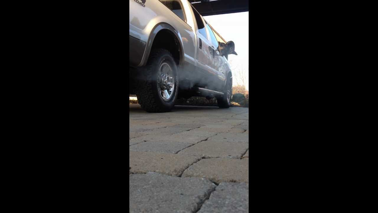 2007 F-250 6.0 Cold Start Long Crank - YouTube