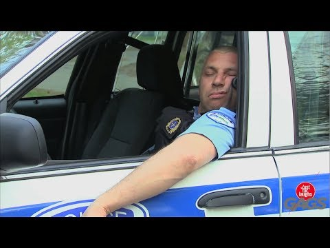 Lazy Sleeping Cop Prank - Throwback Thursday