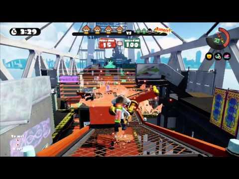 Splatoon -  Gold Dynamo Roller Splat zone - Gameplay - Nintendo - Frezhor (Wii U) 23.4.2015