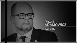 Kondukt pogrzebowy z ciałem tragicznie zmarłego prezydenta Gdańska Pawła Adamowicza