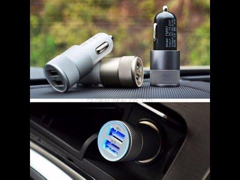 Cмотреть видео онлайн USB Зарядное для авто с Aliexpress.