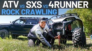 ATV VS SXS VS 4RUNNER, ROCK CRAWLING & CLEARANCE CHALLENGE - TRAIL TALK EP. 15 | POLARIS OFF-ROAD