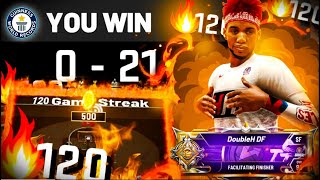 i went on a 129 GAME WIN-STREAK on NBA2K20! LEGEND sets NEW WIN-STREAK WORLD RECORD on 1v1 COURT!