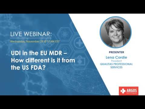 UDI In The EU MDR – How Different Is It From The US FDA?
