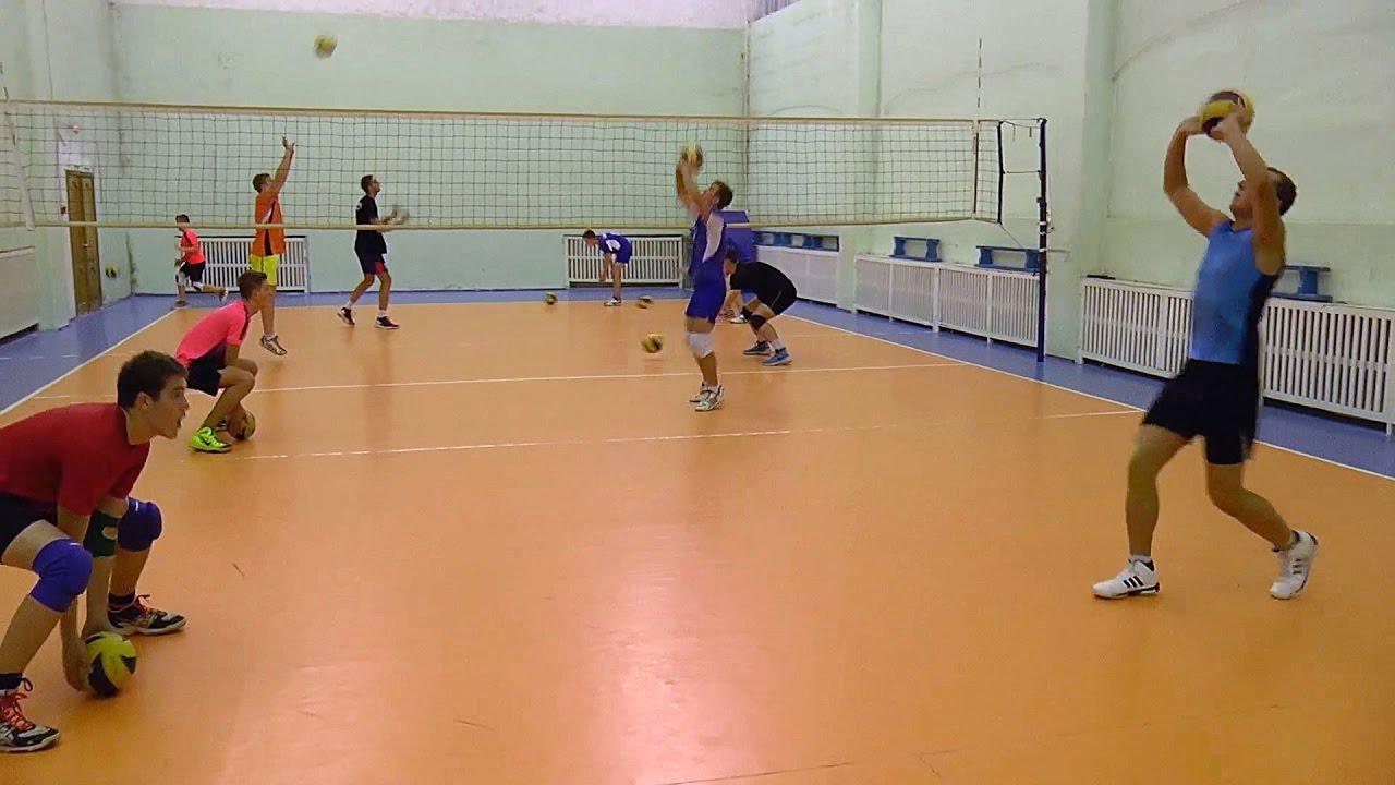 Обучение волейболу. Упражнения в парах с двумя мячами
