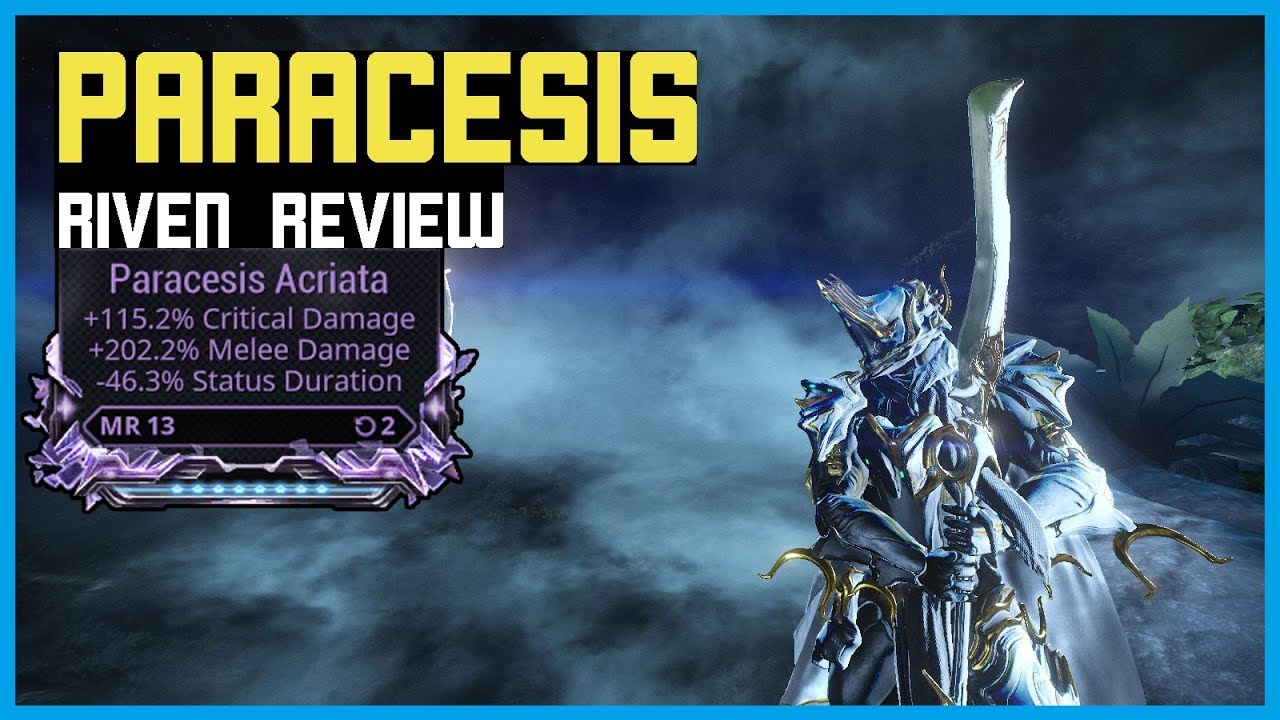 Warframe Paracesis Riven Review Cd Dmg Sd Youtube The hermetic and alchemical writings of aureolus philippus theophrastus bombast, of hohenheim, called paracelsus the great: youtube