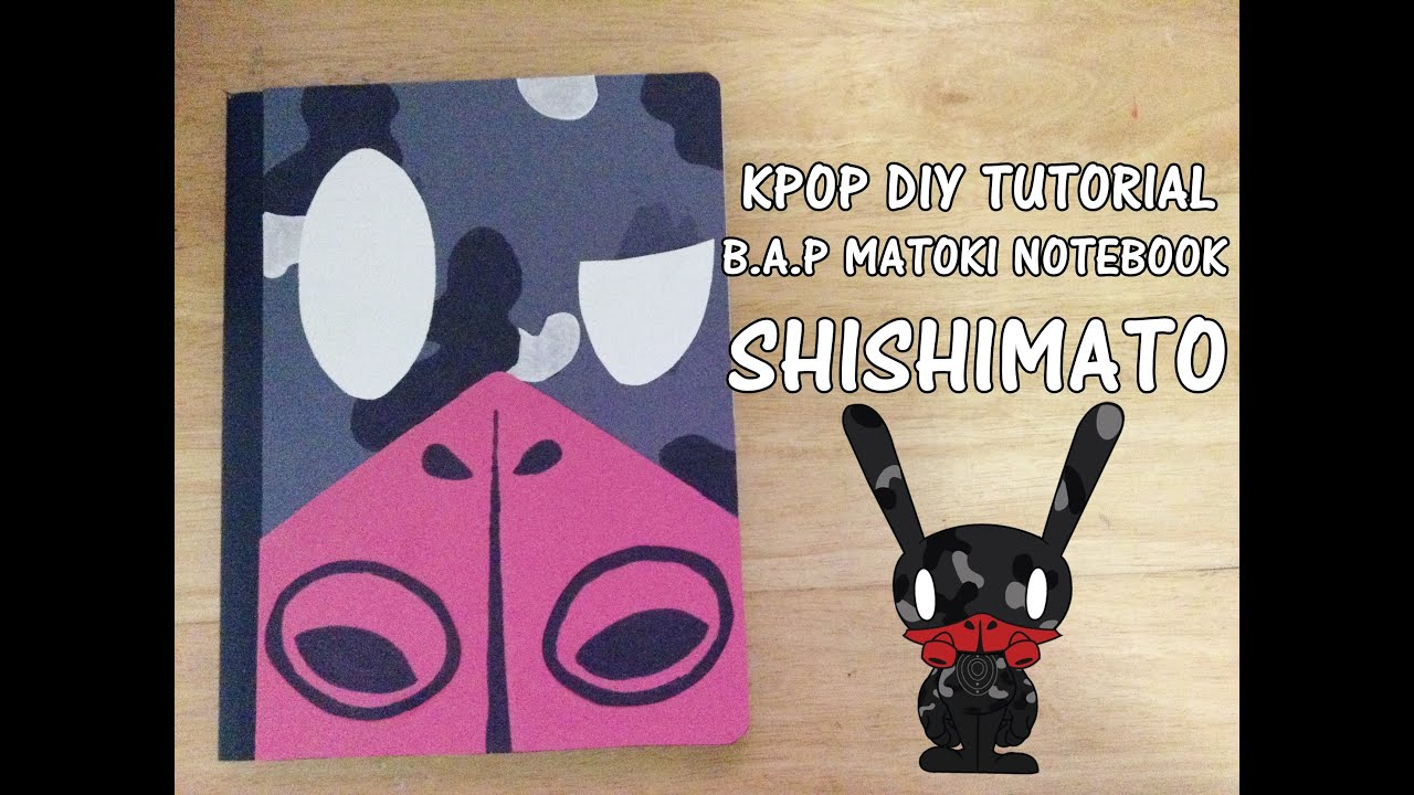 Diy Kpop Book Cover : Kpop d i y b a p matoki notebook shishimato youtube
