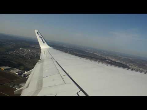 ONBOARD - Ryanair B737 FR3247 Stuttgart Airport to Manchester Airport (FULL FLIGHT)