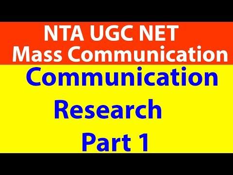 Communication Research Part 1| UGC Net Mass Communication| Kangenium| Kushal R Jain