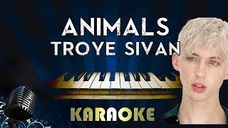 Troye Sivan - Animal | Piano Karaoke Instrumental Lyrics Cover Sing Along