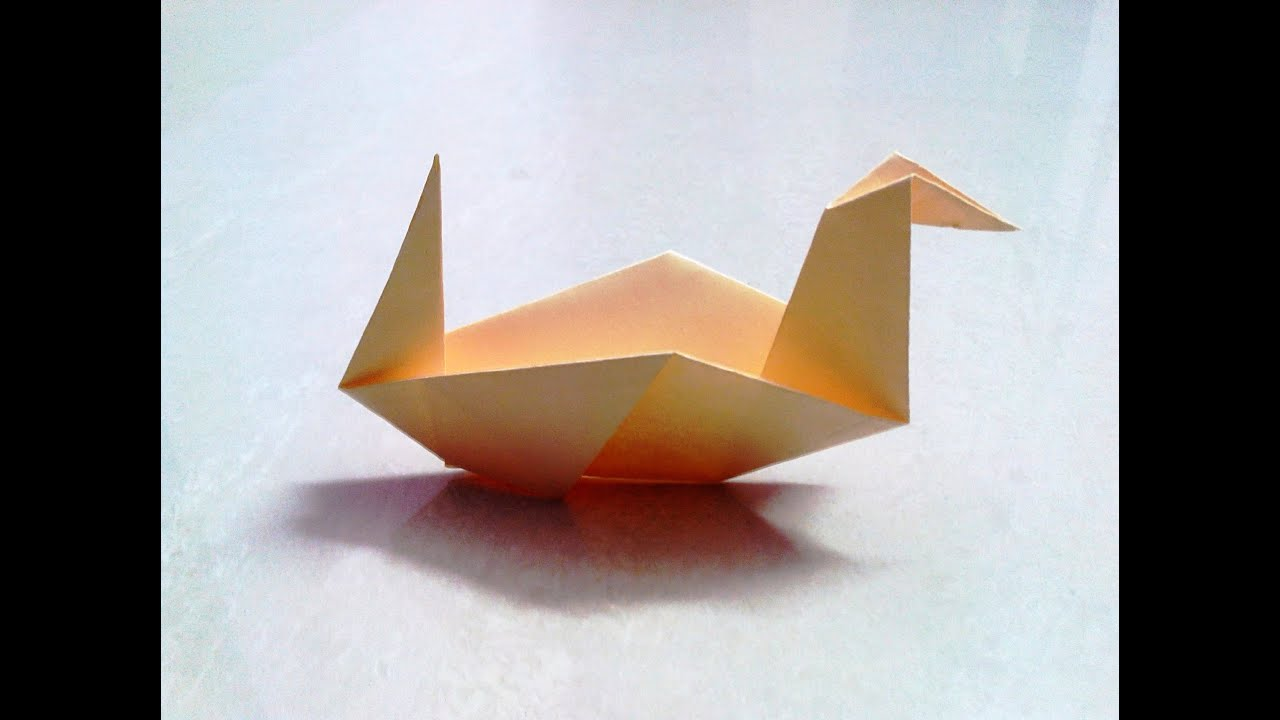 How to make an origami paper duck 2 origami paper for Craft work with paper folding