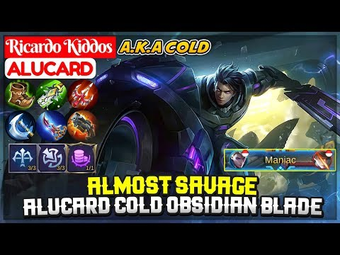 Almost SAVAGE, Alucard Cold Obsidian Blade [ Cold Alucard ] Ricardo Kiddos - Mobile Legends