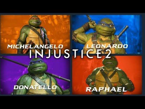 TMNT - Gameplay - Michelangelo, Raphael, Donatelo, Leonardo