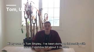 Business Services Testimonial : Internship in Colombia (Tom)