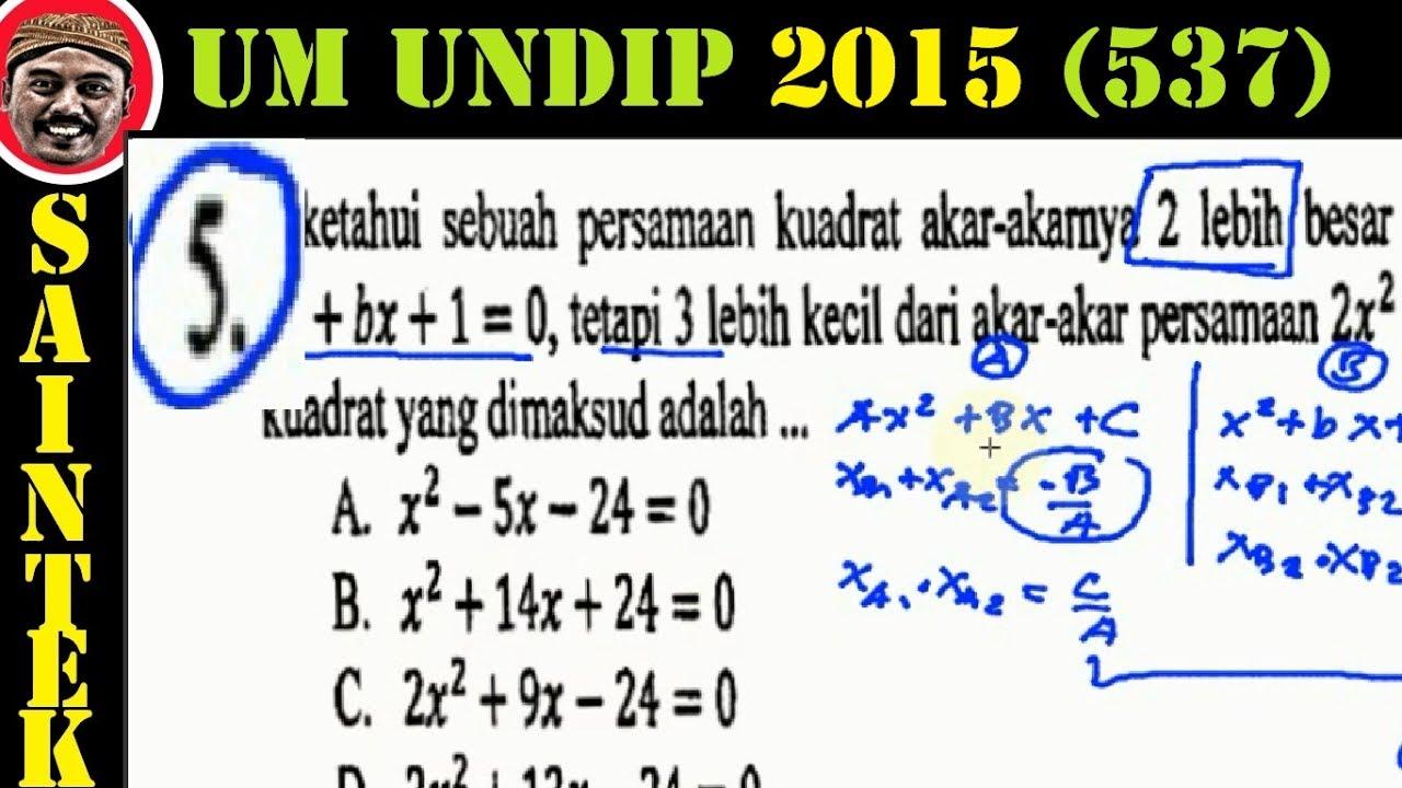 UM UNDIP 2015 Kode537, Matematika Dasar, Pembahasan No 04
