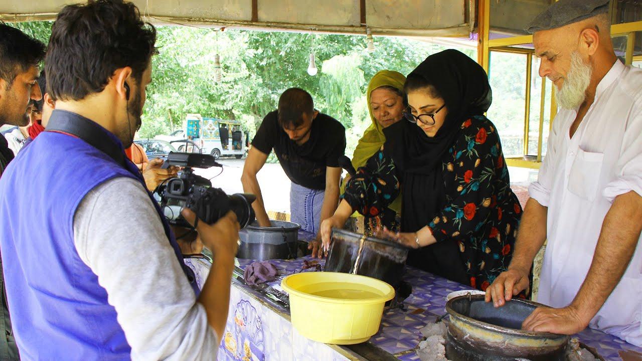 شیریخ با قیماق وطنی در کامه ننگرهار - برنامه که در دولت قبلی تهیه شده بود