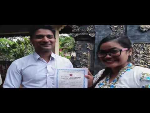 Elok prosesi pengesahan memeluk agama Hindu (happy moment menjelang pernikahan )