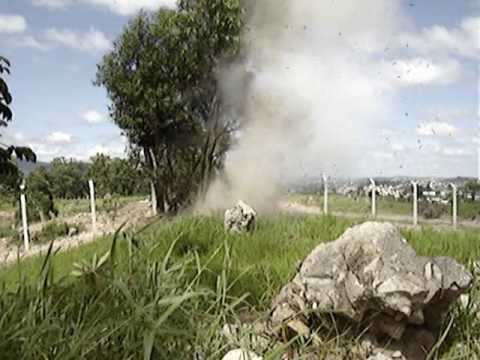 Watergel explosive tests