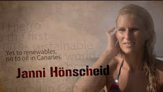 Janni hÖnscheid for renewables against oil in canaries
