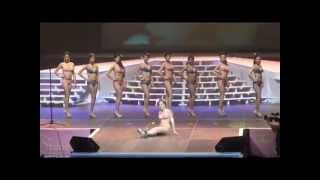 A Miss falls down in very high heels during the Miss Asia Pageant North America