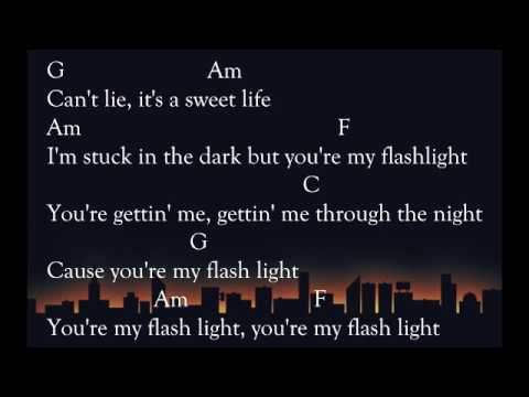 Flashlight lyric and chord guitar