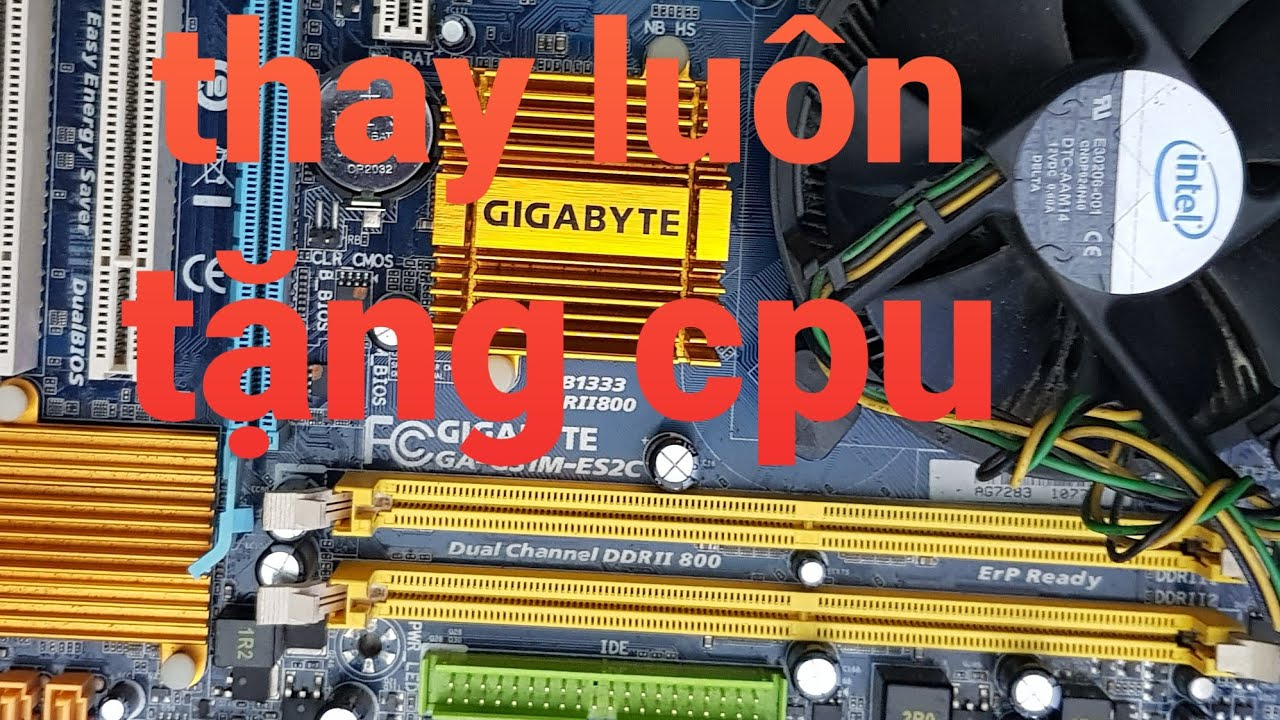 Thay giúp chị kế toán main G31 tặng luôn Core 2 Duo E7400