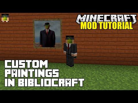 Minecraft: Bibliocraft Custom Paintings Modded Tutorial (1.7.10 Mods)