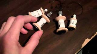 Wooden Spool Ornaments