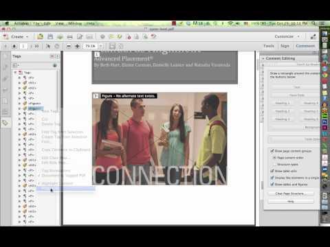 Tagging a PDF file