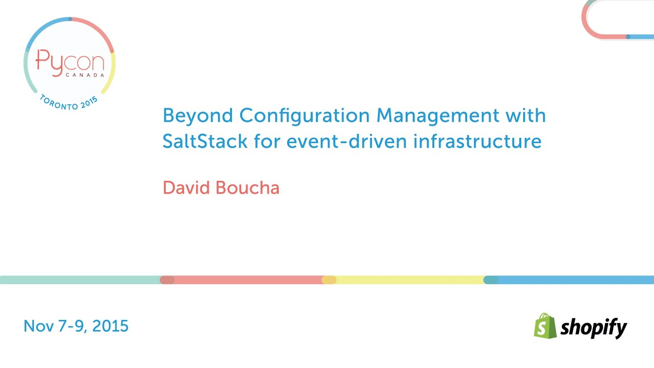Image from Beyond Configuration Management with SaltStack for event-driven infrastructure
