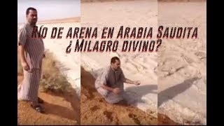 A sand river recorded in Saudi Arabia. What is it really? 2018