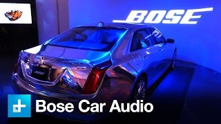 Bose engineers 4 tiers of car audio