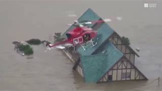 Latest News | Floods in Okayama Japan due to heavy and entense rain