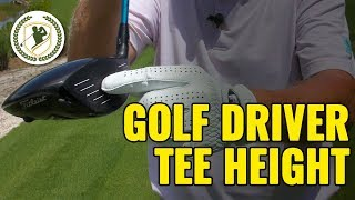 How High Should You Tee a Golf Driver IT MATTERS