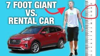 7 Foot GIANT vs. Rental Cars!
