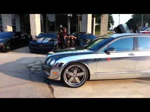 Bentley Chrome Wrap - Butler Tires & Wheels V103 Pre Show