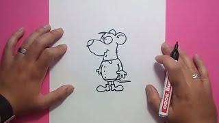 Como dibujar un raton paso a paso 12 | How to draw a mouse 12