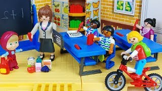 Baby doll school and bus toys House play - 토이몽